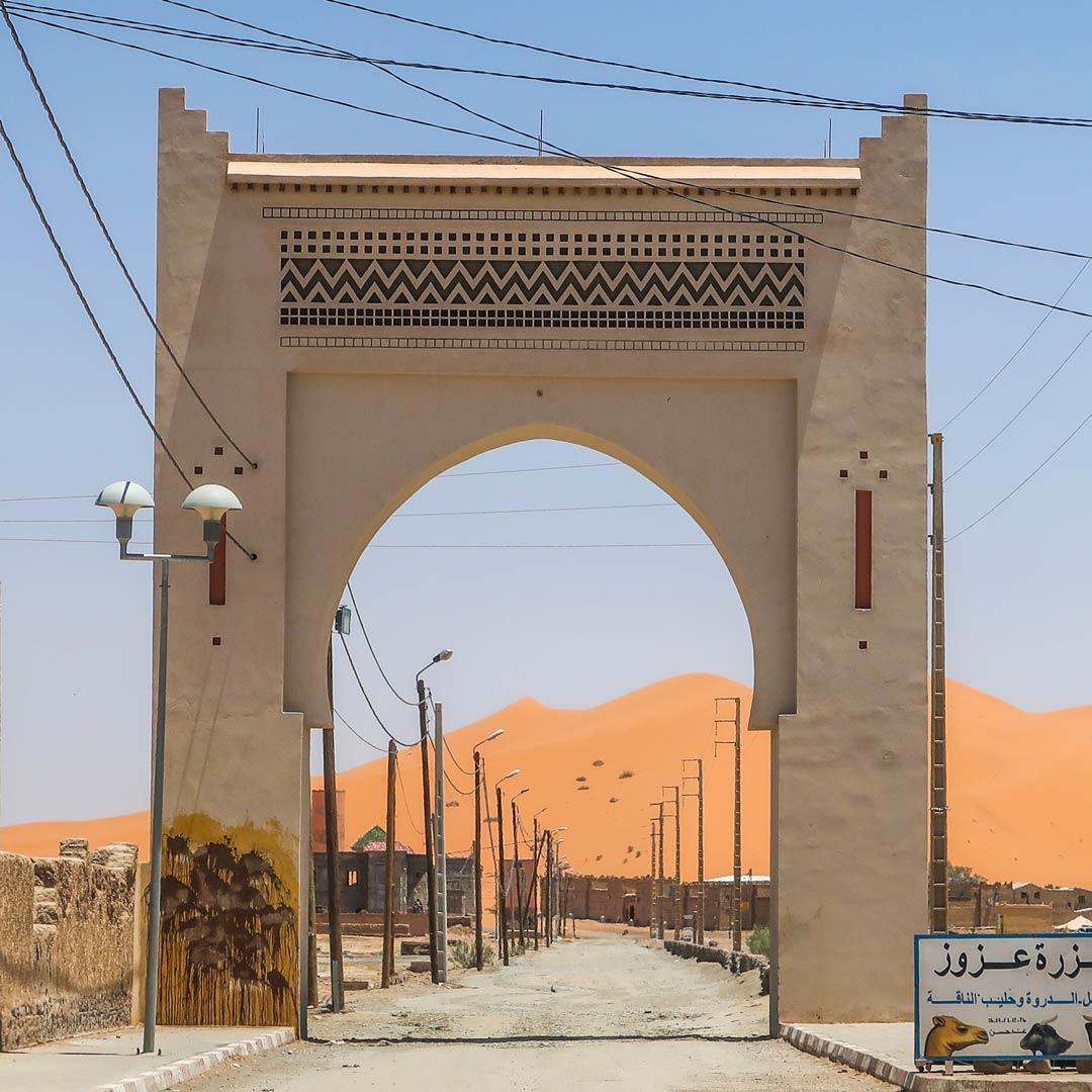 Das Tor zur Wüste in Merzouga