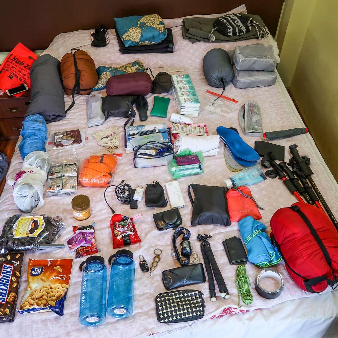 Ausrüstung  Everest Base Camp Packliste Nepal