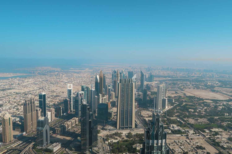 Ausssicht vom Burj Khalifa - das höchste Gebäude auf der Welt