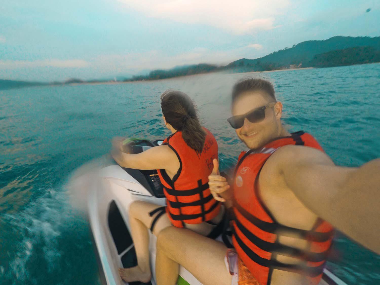 Jetski fahren auf Langkawi - Weltreise Hightlight