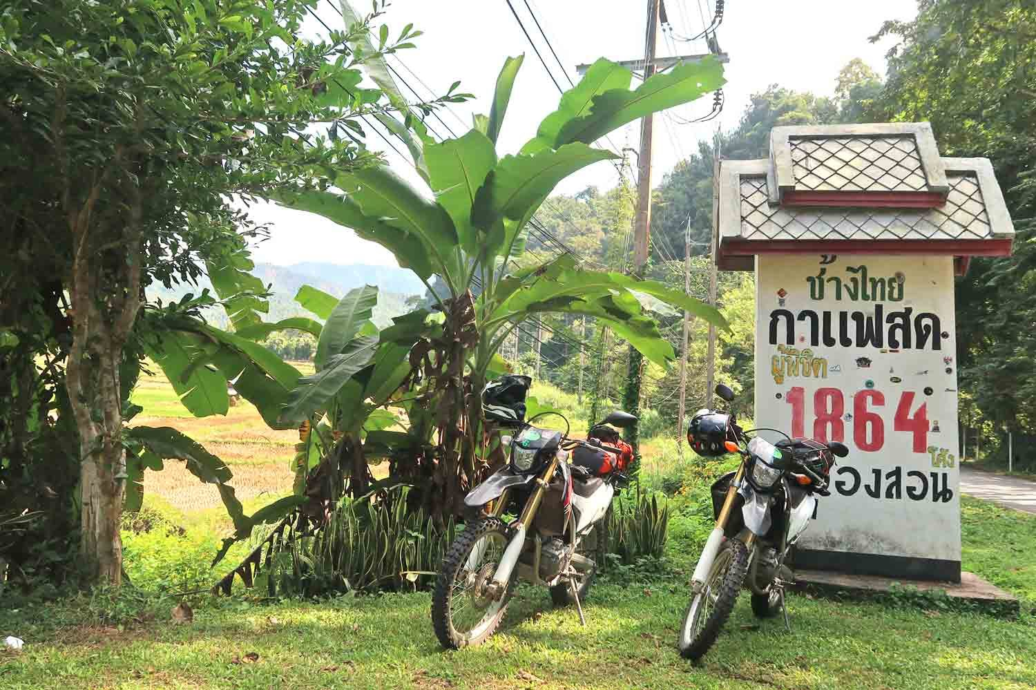 Honda CRF250 auf dem MAe Hong Son Loop - Weltreise Highlights