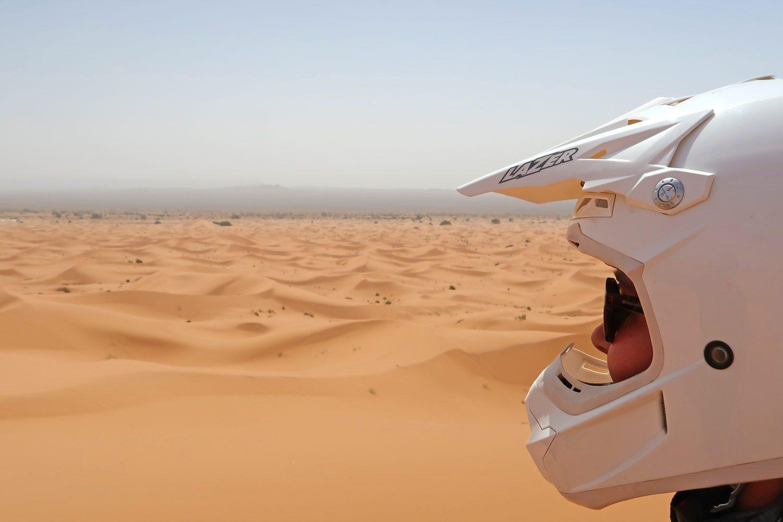 Blick über die Erg Chebbi Sahara Wüste - Quadtour auf der Weltreise