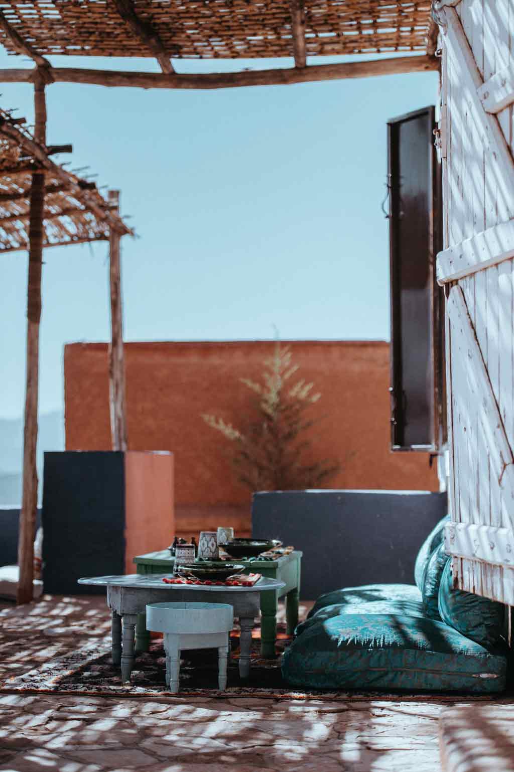 2-Wochen-Reiseroute auf eigene Faust - Dachterasse Marrakesch