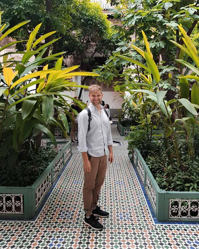 Der Garten vom Bahia Palast Marrakesch Sehenswürdigkeiten