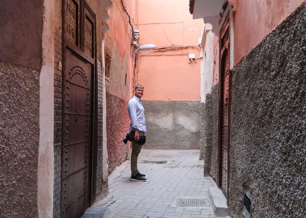 Die verlassenen Gassen der Medina in Marrakesch