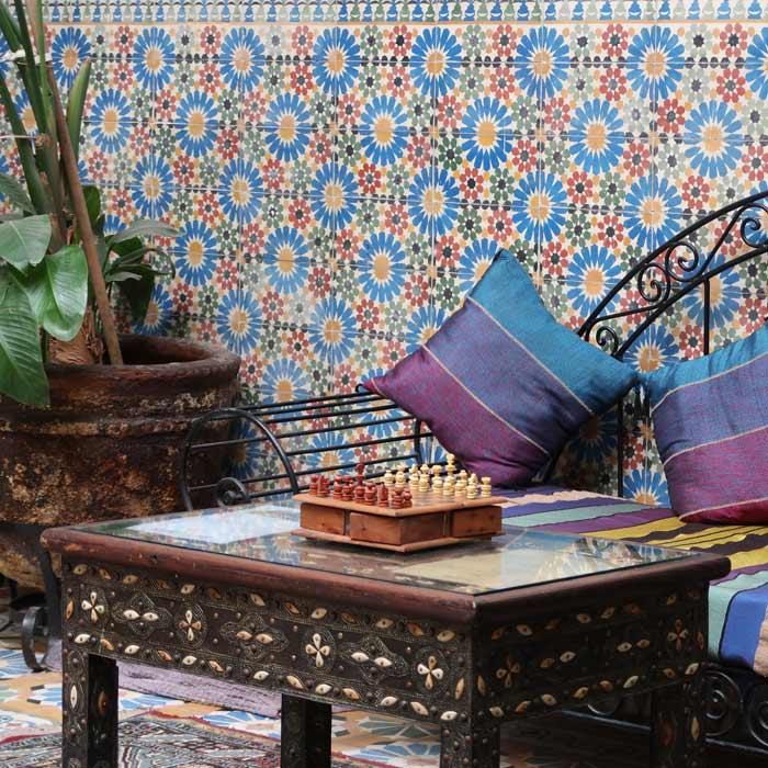 Innenhof eines Riads in Marrakesch