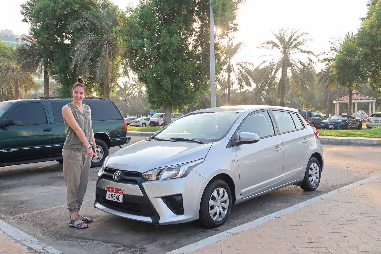 Toyota Yaris Mietwagen in Dubai und in Abu Dhabi