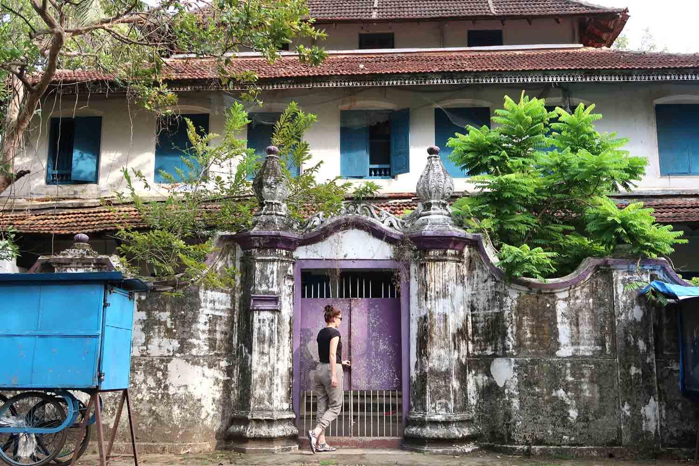 Altes Gebäude in den Gassen von Fort Kochi
