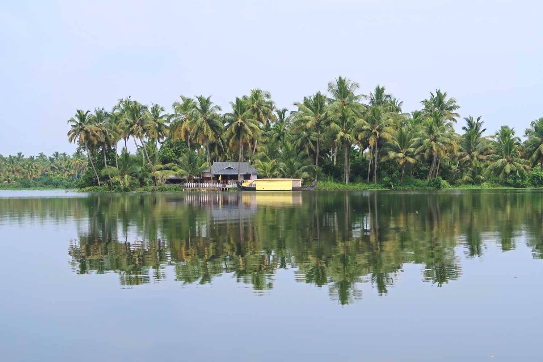 Insel in den Backwaters von Kerala