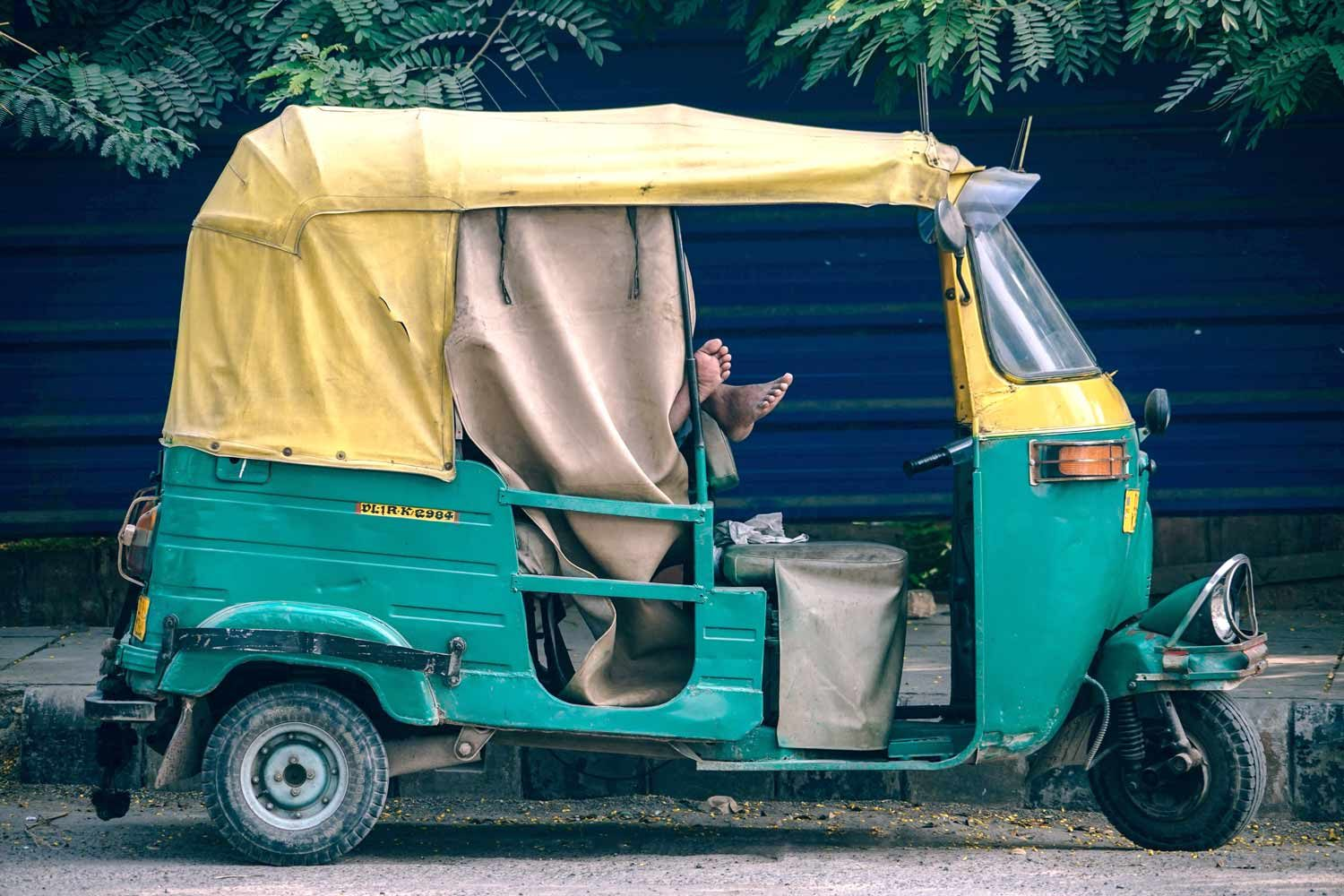 Indisches Tuktuk in Mumbai