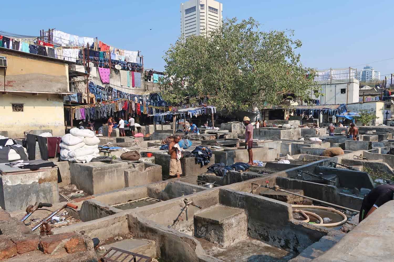 Mumbai Wäscherei in der Stadt
