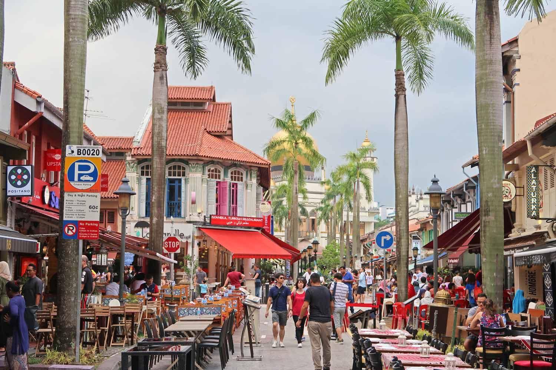 Straßen von Singapur - Restaurantmeile