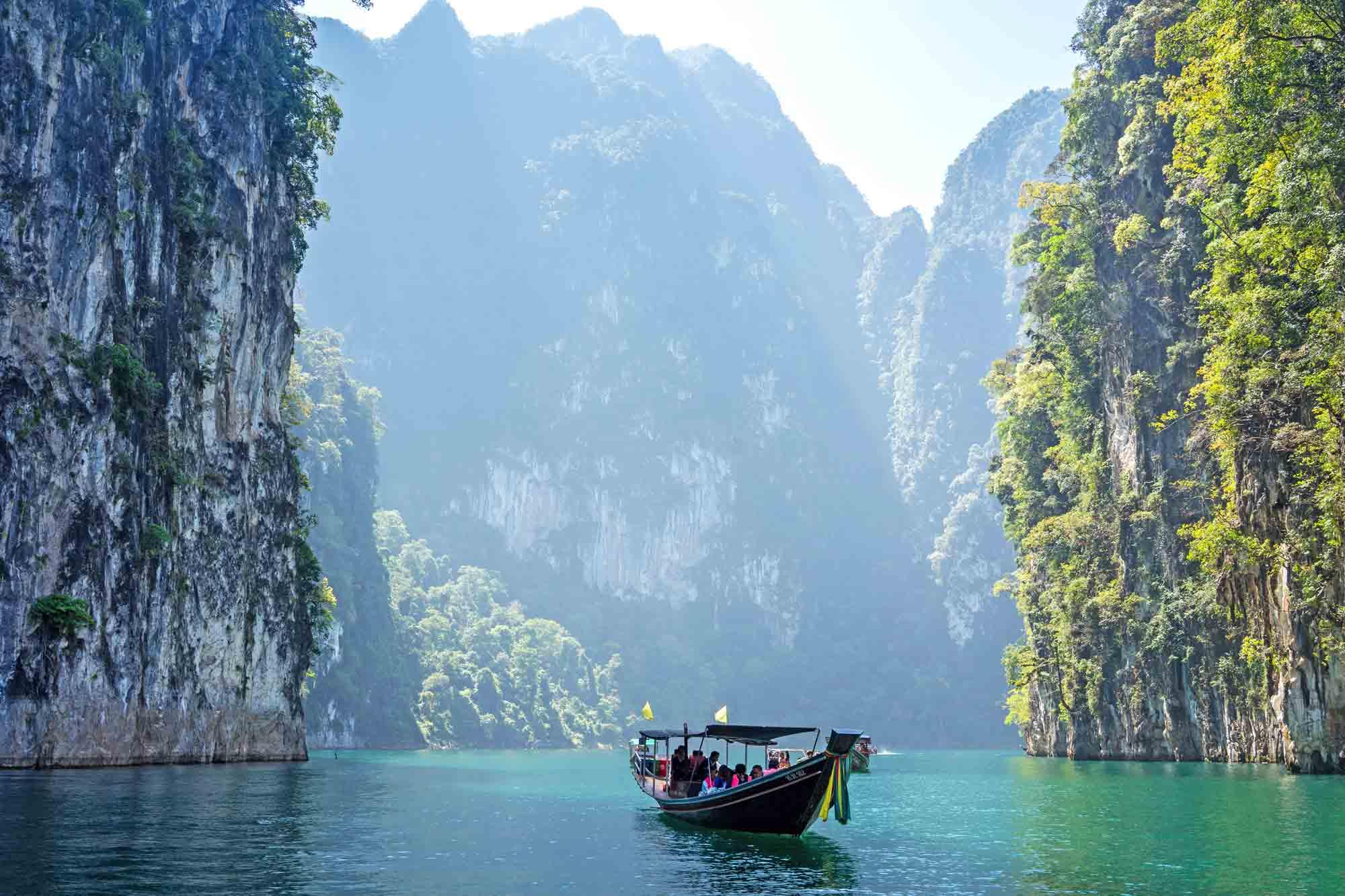 Thailand Bucht - Boot in Krabi