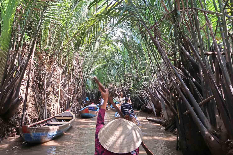 Die Flüsse des Mekong Delta - Mit einem Holzboot durch Vietnam