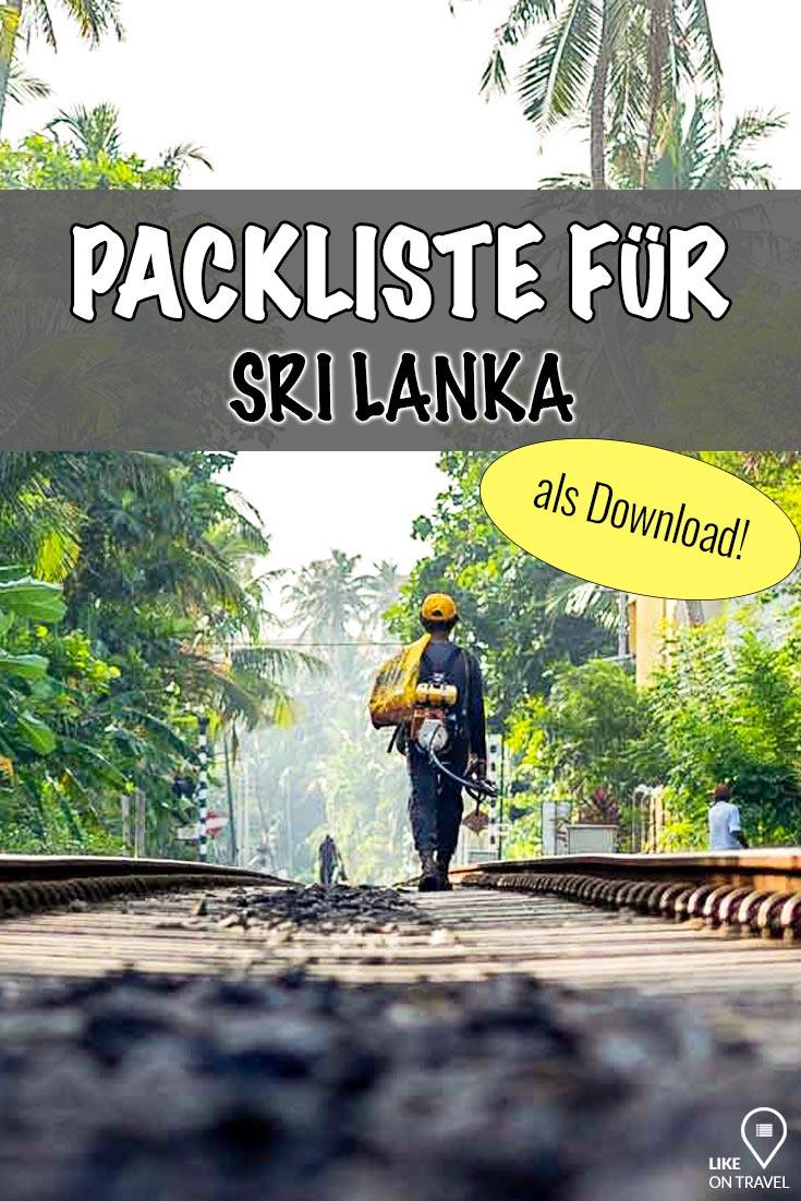 Packliste Sri Lanka - die wichtigsten Dinge, die in dein Gepäck gehören! #srilanka #asien #reisetipps #packliste #download #pdf #zumabhaken #reiseblog #blog #likeontravel