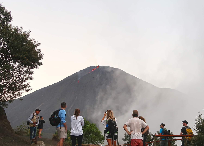 Pacaya Vulkan Tour - Sonnenuntergang