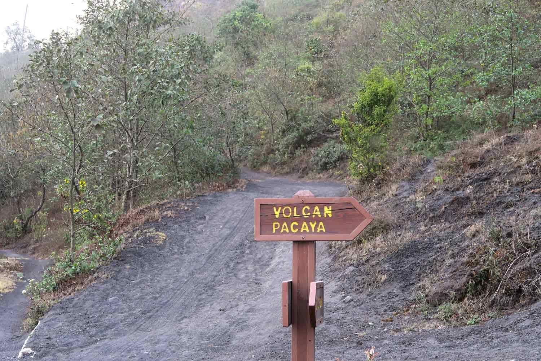 Pacaya Vulkan Tour - Schild