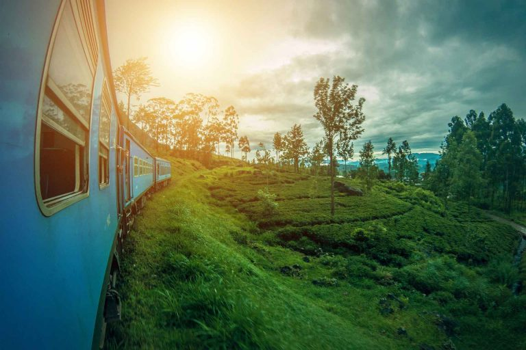 Sri Lanka Train with Sunset
