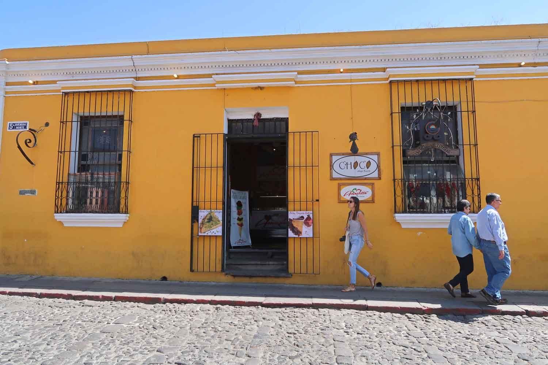 Spanisch lernen in Mittelamerika - Schokomuseum in Antigua