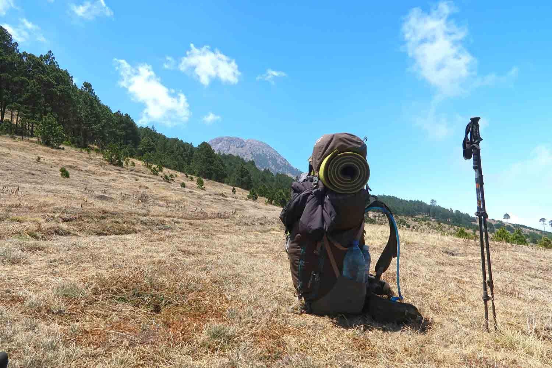 Blick auf den Vulkan Tajumulco - Höchster Punkt in Mittelamerika -