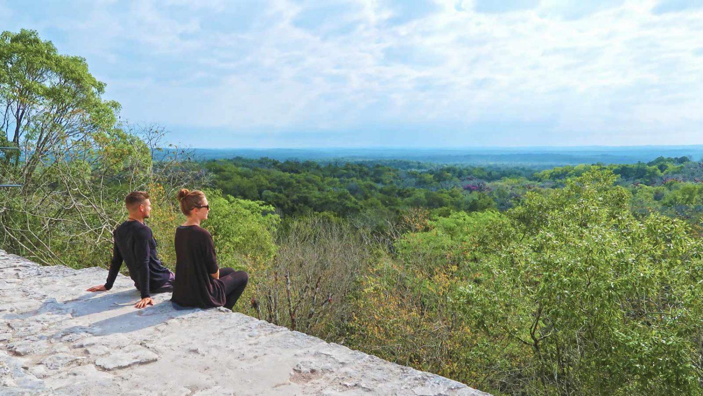 Bucketlist Blick über Tikal