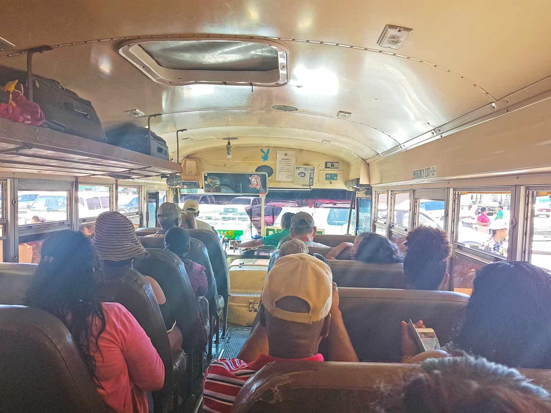 Belize nach Mexiko im Localbus