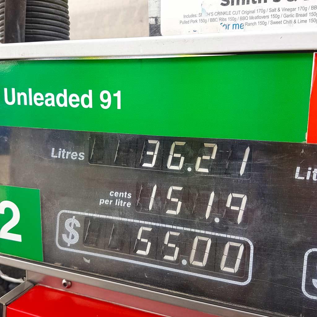 Camper mieten Australien: Alle Kosten & Preise beim Roadtrip - Benzinkosten