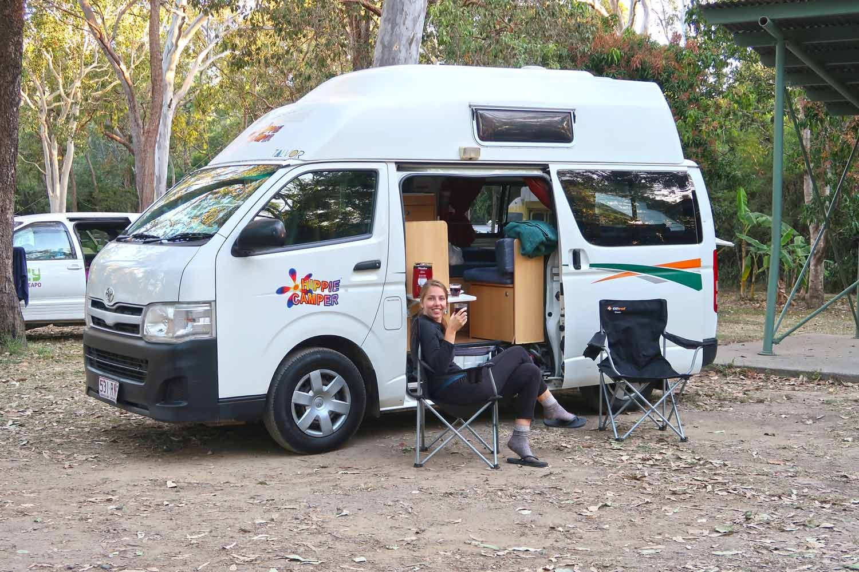 Camper mieten Australien: Alle Kosten & Preise beim Roadtrip - Kostenlose Rest Area in der Nähe von Cairns
