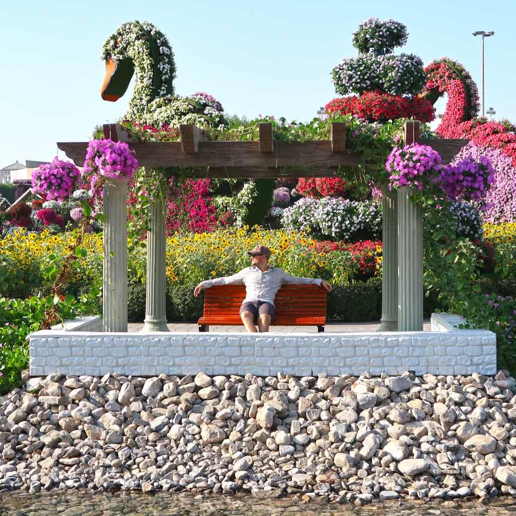 Dubai Rundreise - 5 gigantische Tage im Orient - Relaxen im Miracle Garden