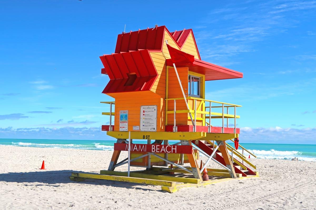 Miami Beach  Lifeguard Hütten am South Beach
