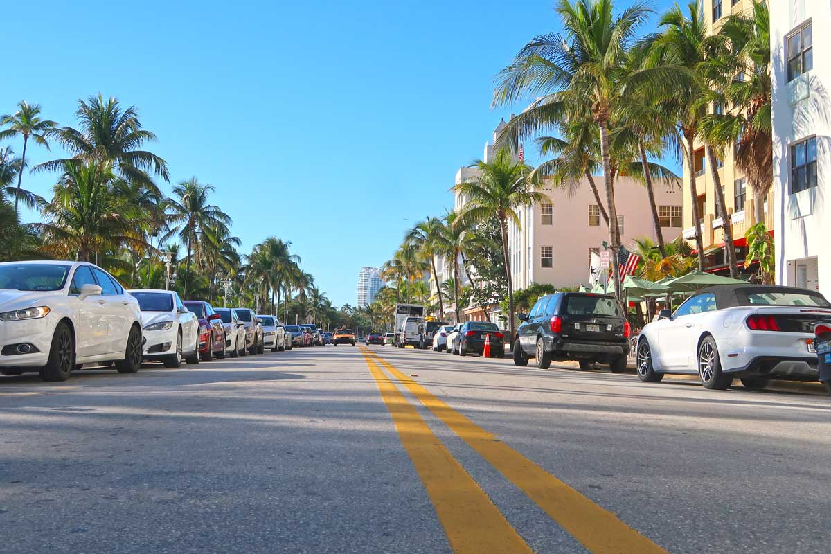 Ocean Drive am South Beach