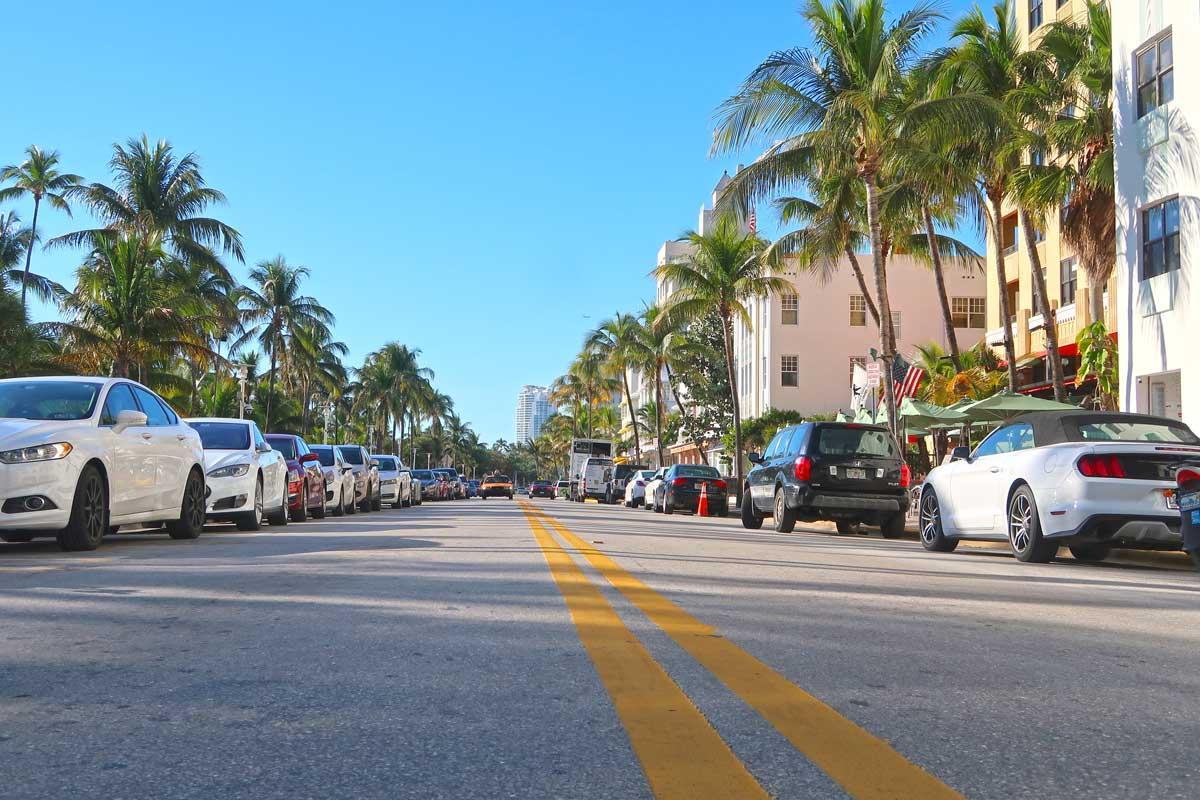 Ocean Drive am South Beach