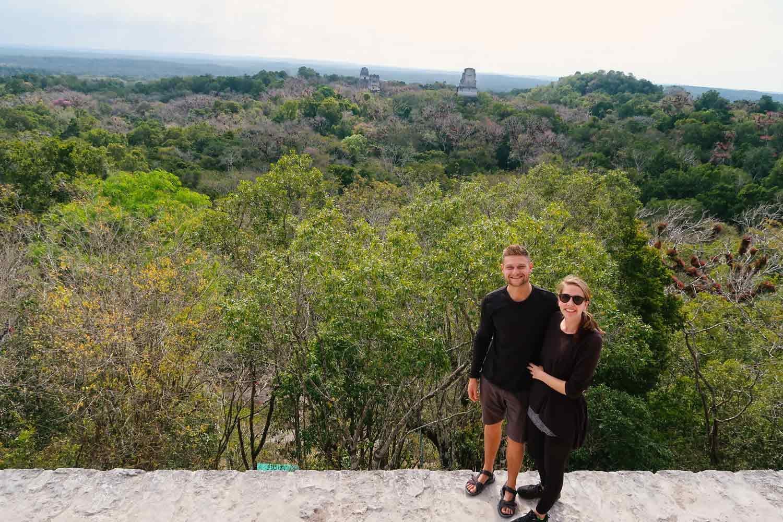 Tikal Guide Guatemala - aussicht von Tempel IV