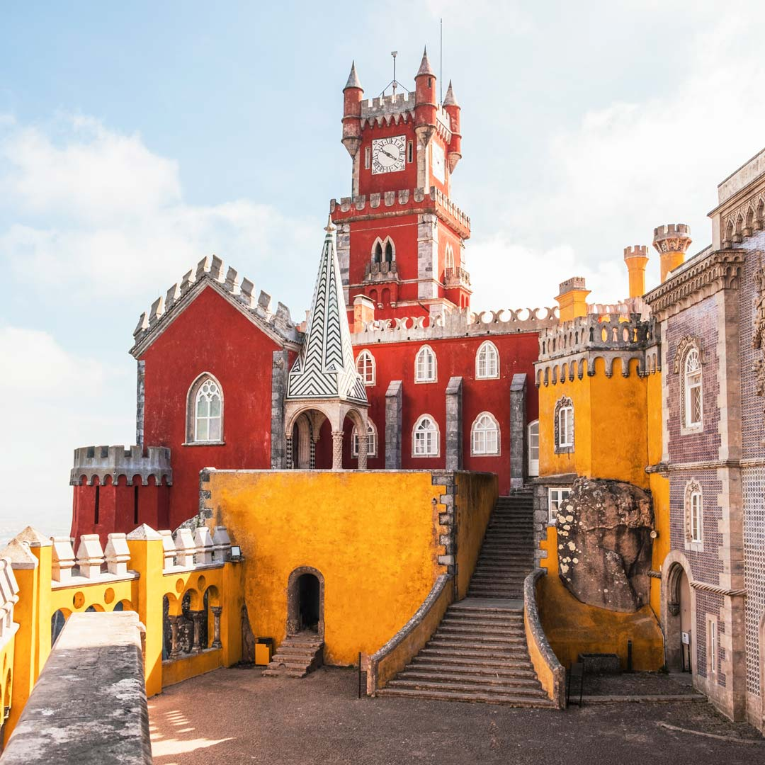 Portugal Rundreise - der bunte Kummerpalast in Sintra