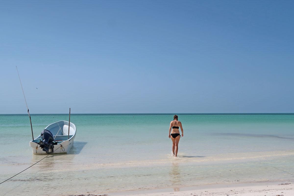 Playa de Holbox in Mexiko