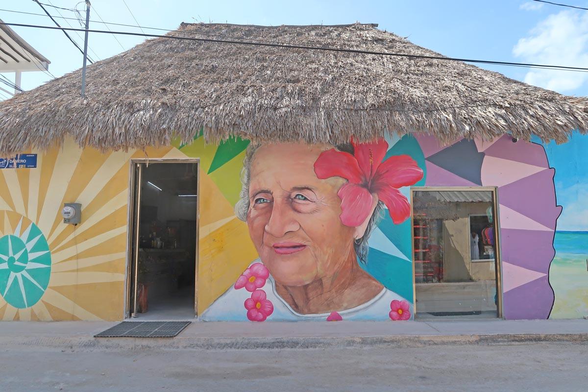 Streetart auf Holbox in Mexiko
