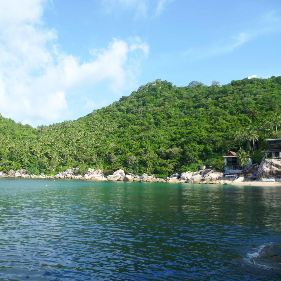 Unzählige ruhige und sogar einsame Buchten auf thailändischen Inseln