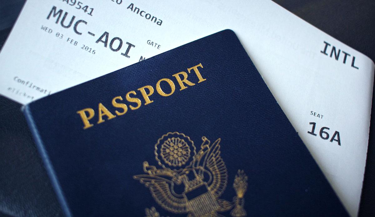 Dokumente für einen Langstreckenflug