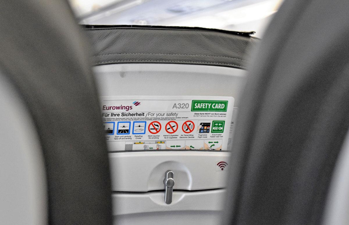 Sicherheitshinweise auf einem Langstreckenflug