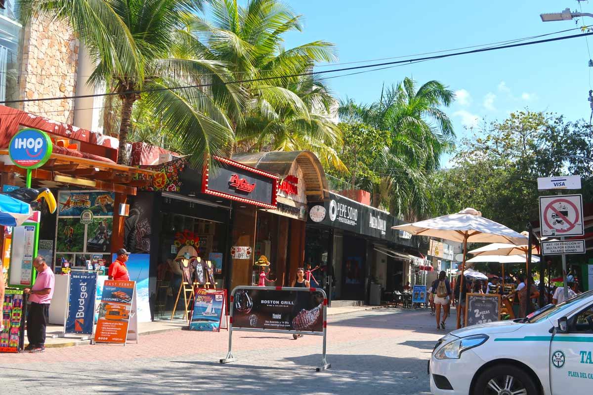5th Avenue in Playa del Carmen