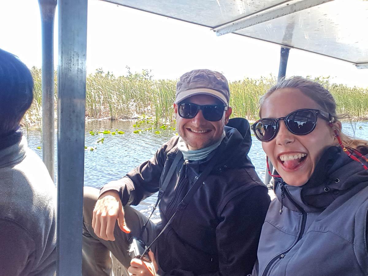 Im Boot bei der Everglades Tour
