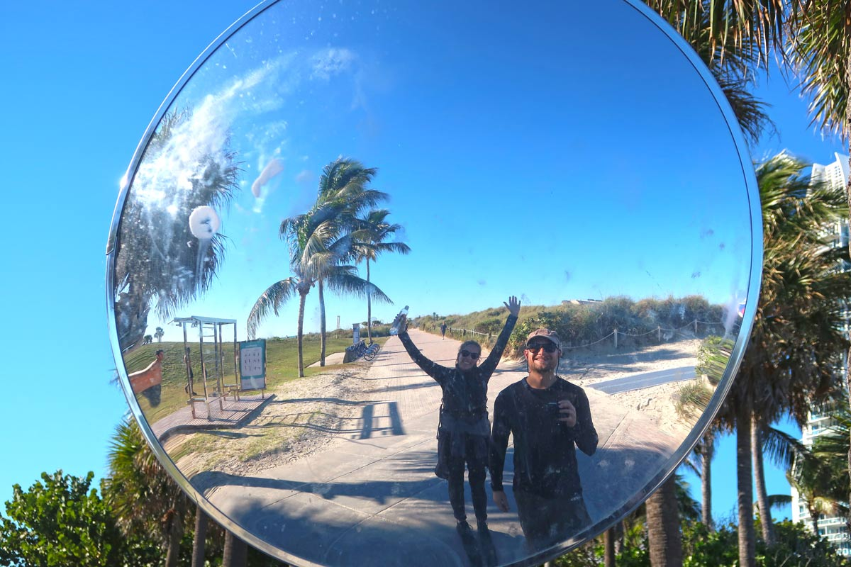 Spiegelbild in Miami Beach