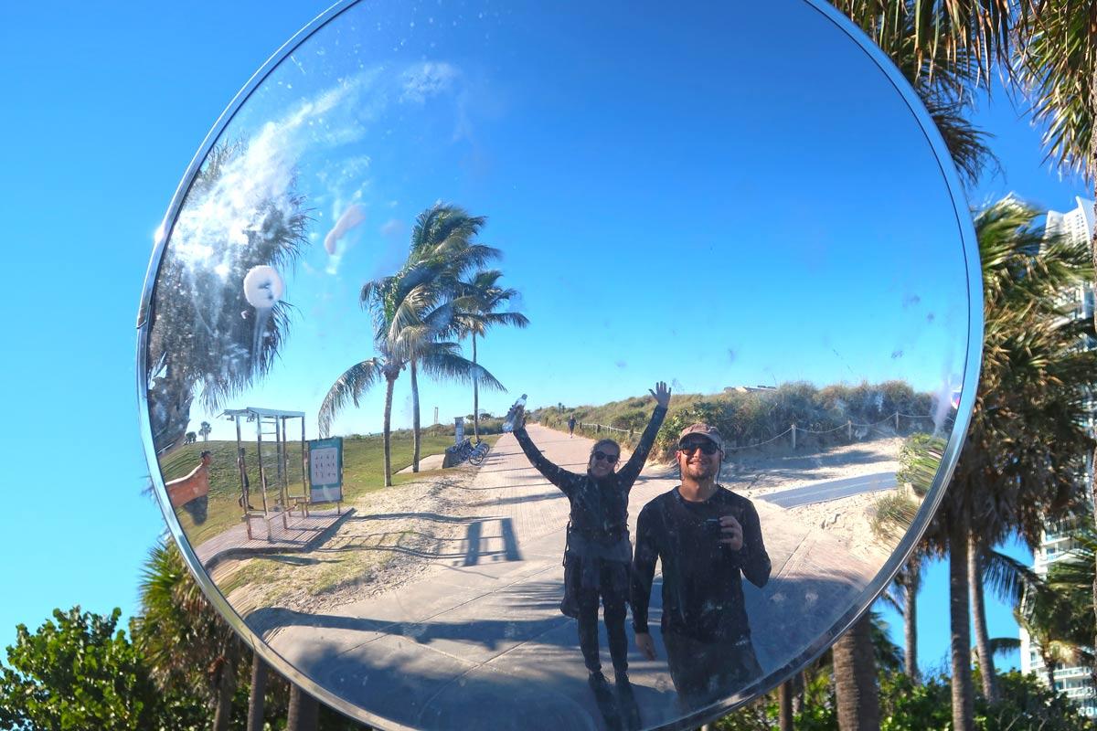 Spiegelbild in Miami Beach