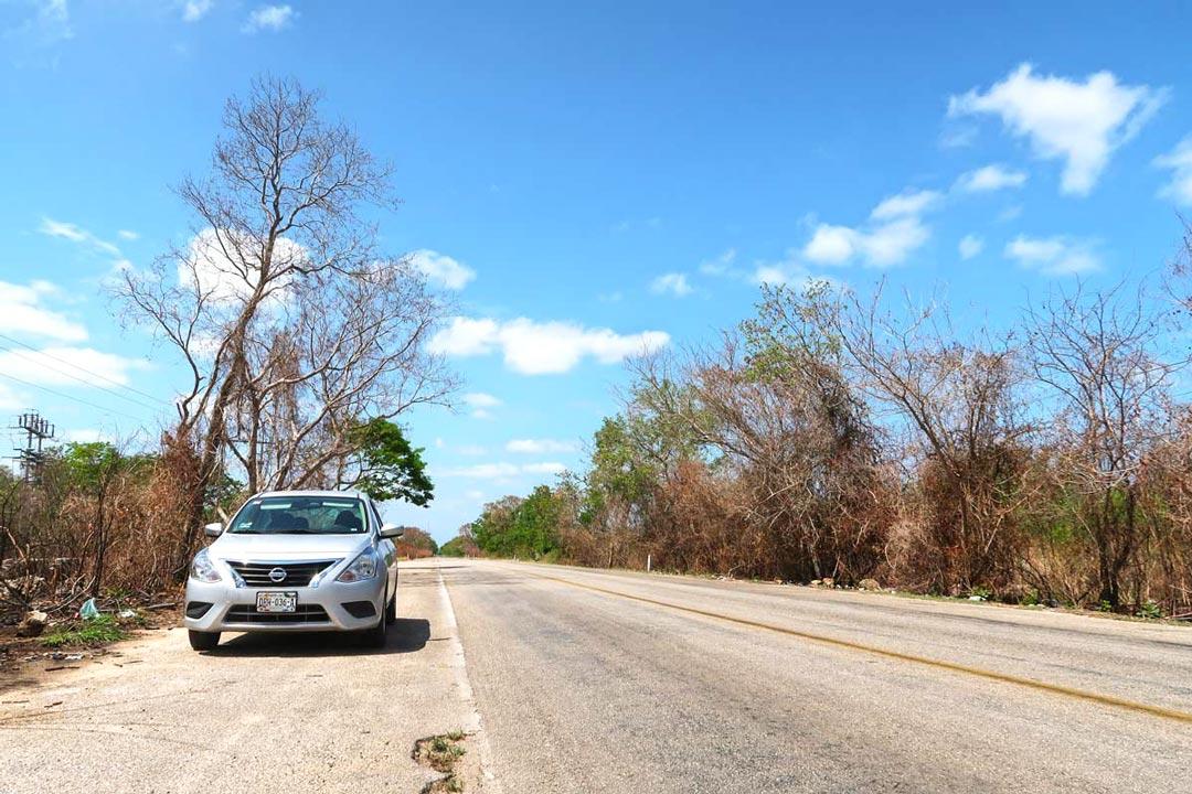 Gute Straßenverhätnisse in Yucatan, Mexiko