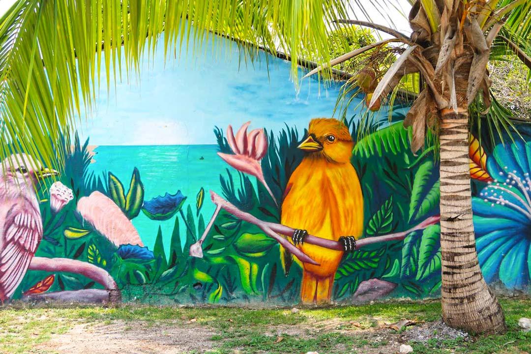 In Bacalar bibt es kunterbunte Streetart