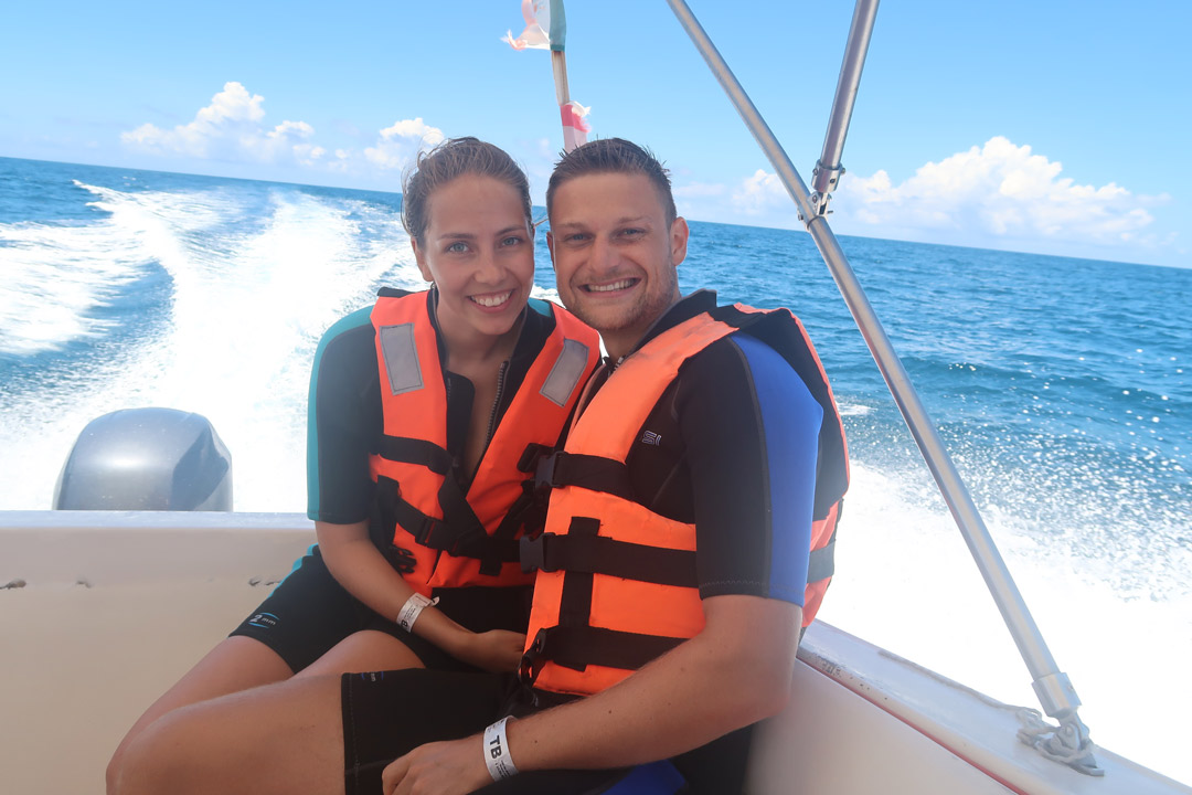 Walhai Tour Linda und Kevin