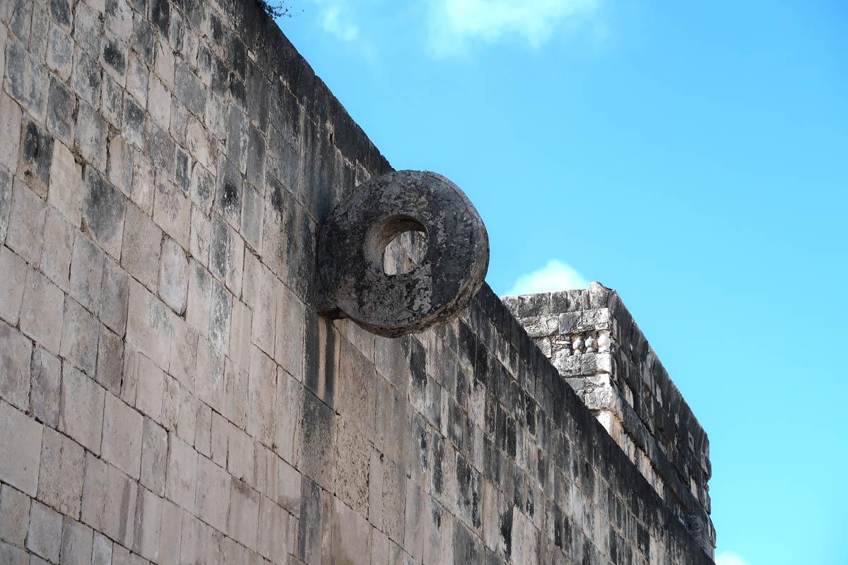 Der Ballspielplatz in Chichén Itzá