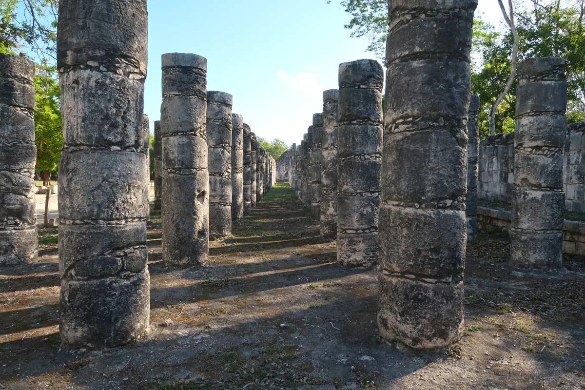 Palast der 1.000 Säulen in Chichén Itzá, Mexiko