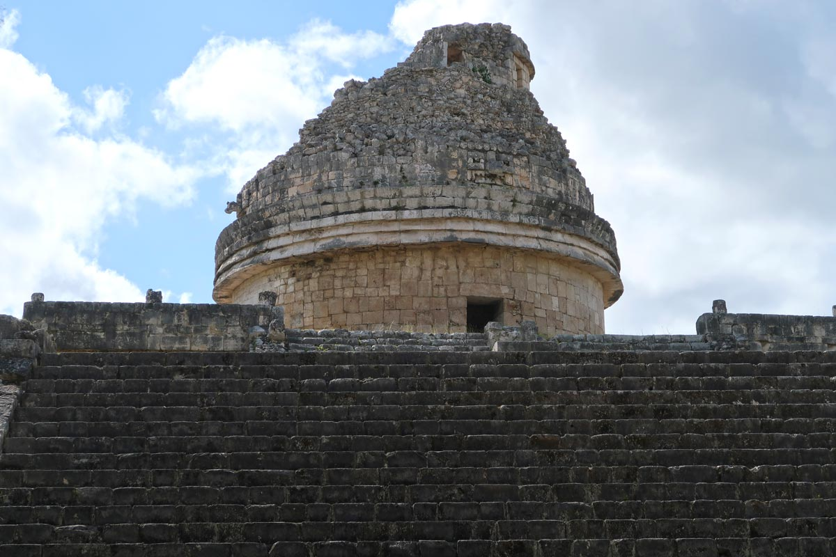 Die Kuppel des Observatoriums in Chichén Itzá