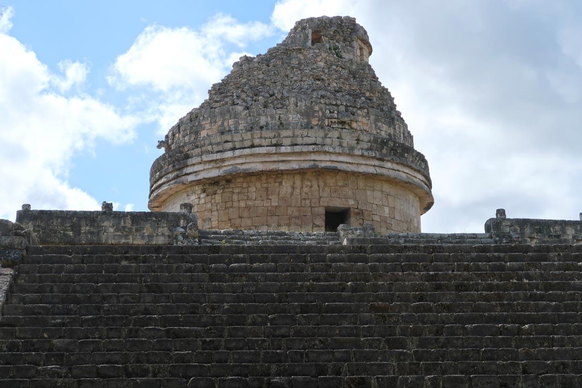 Die Kuppel des Observatoriums in Chichén Itzá